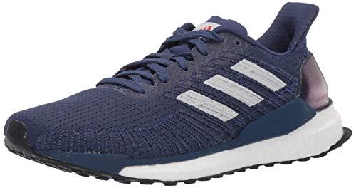 adidas Men's Boost 19 M Running Shoe, Indigo/Dash Grey/Solar Red, 12