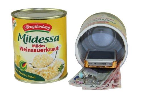 kh security Safe (Ausführung: Konservendose Mildessa Sauerkraut), gelb, 370122