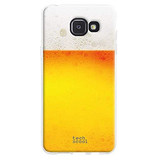 Funnytech Funda Silicona para Samsung Galaxy A5 2016 [Gel Silicona Flexible, Diseño Exclusivo] Cerveza sin Frase