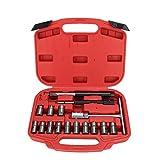 YAOHM Kit de Herramientas 17pcs de inyector de Diesel Cortador de Asiento Fresa del Sistema de Herramienta de Coche Universal de Coches