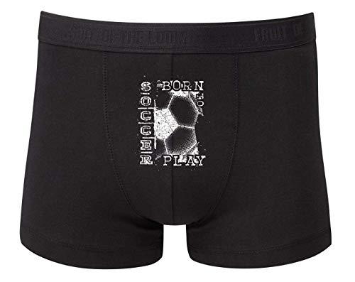 Druckerlebnis24 Boxershort - Fußball Leidenschaft Football Ball - Unterhose für Herren und Männer