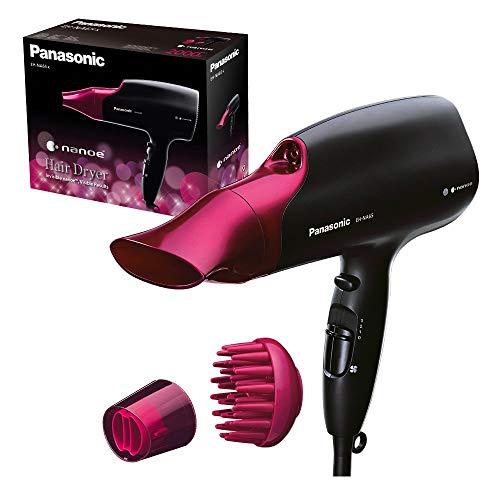 Panasonic EH-NA65-K825 Secador Profesional para Hidratación y Brillo, Tecnología Nanoe Avanzada, 2000 W Potente, 3 Velocidades y 4 Temperaturas, Botón de Aire Frio, Con Difusor, Negro y Rosa