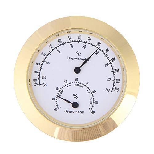 Rantoloys Runde Thermometer Hygrometer Luftfeuchtigkeit Temperaturmesser für Violine Gitarrenkoffer Instrumentenpflege Überwachung Meter Werkzeug