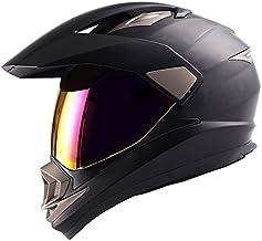 Dual Sport Helmet Motorcycle Full Face Motocross Off Road Bike Matt Black