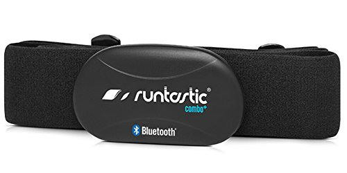 Runtastic Blutooth Combo Brustgurt (Bluetooth Smart + 5,3 Khz) Monitor de Ritmo cardíaco con Correa para el Pecho y la aplicación, Unisex, Negro