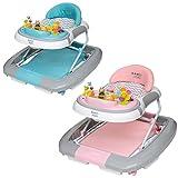 ib style® 3 in 1 Girello per bambini | primi passi | con funzione swing | Luce & Melodia | EN1273:2005 | Rosa