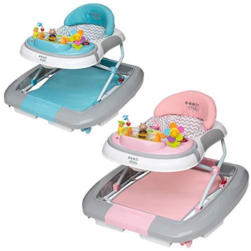 ib style 3 in 1 Girello per bambini | primi passi | con funzione swing | Luce & Melodia | EN1273:2005 | Rosa