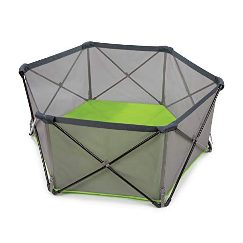Summer Pop 'n Play Portable Playard, Green – Lightweight Play Pen for Indoor...