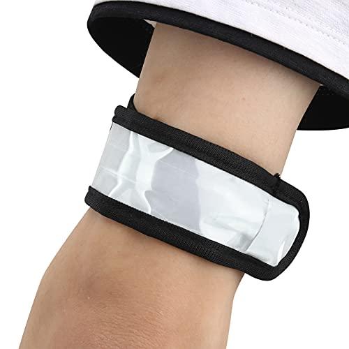 Eulbevoli Brazalete Intermitente, Brazalete LED de Silicona para Correr en Deportes nocturnos al Aire Libre(White)