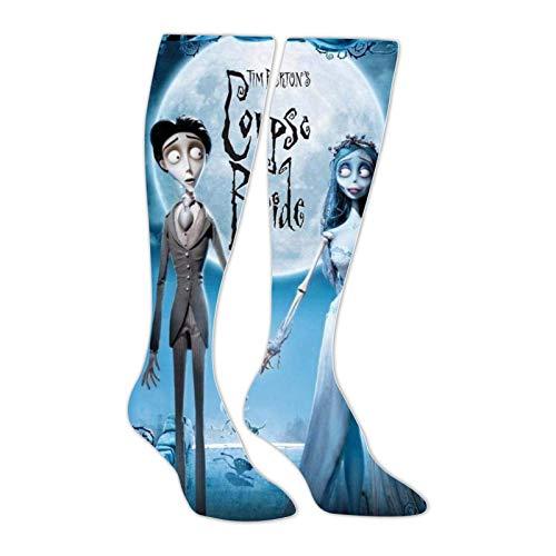 FJXXM Unisex Socks,Medias Hasta La Rodilla Calcetines Unisex Corpse-Bride-Movie, Calcetines De Compresión Encantadores Creativos Para Senderismo Deportivo 50cm
