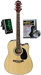 Western de guitarra 41con funda, sintonizador, libro y CD de karaoke