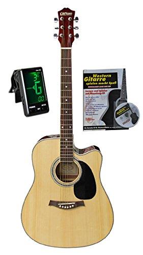 Western-gitaar 41 met tas, tuner, boek en karaoke-CD