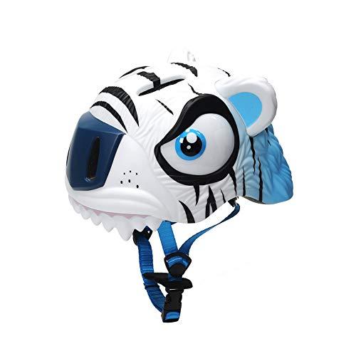 MMCP Kinderhelm, niedlicher 3D-Tiger-Fahrradschutzhelm mit abnehmbarem Futter verstellbares Fahrrad Roller Skating Multi-Sport Sicherheitsschutzausrüstung,Blue