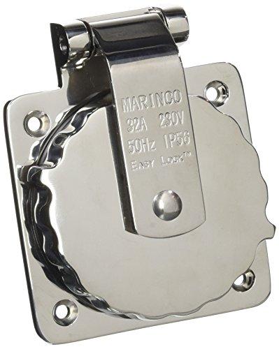 Marinco 32A 230V Easy Lock Inlet SS Instrumentierung nautischen, Unisex Erwachsene, schwarz, Einheitsgröße