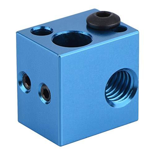 Blocco Riscaldante, ASHATA Accessori per Stampanti 3D Blocco Riscaldante in Lega di Alluminio con Connessione Filettata Interna per Makerbot(blu)