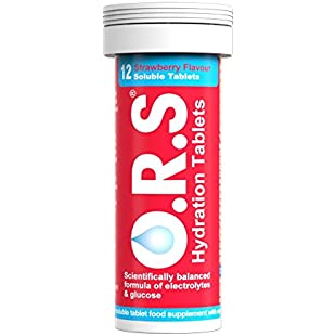 O.R.S Hydration Electrolyte Tablets Strawberry Tube of 12:Kisaran