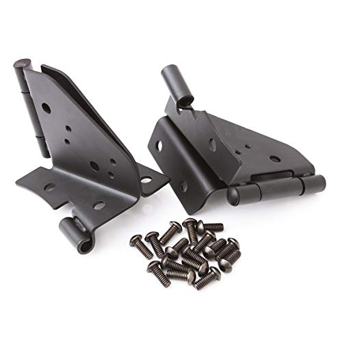 RAMPAGE PRODUCTS 7603 Black Windshield Hinges for 1976-1995 Jeep CJ & Wrangler - Pair