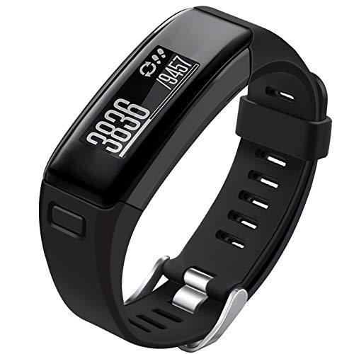 Oenfoto Compatible Garmin Vivosmart HR Replacement Bands, Soft Silicone Bracelet Sport Wristband Strap Accessories with Screwdriver for Garmin Vivosmart HR-Black