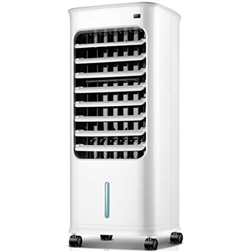 Raffrescatore Evaporativo Portatile Domestico Ventilatore Condizionatore Frigorifero 6M Telecomando Intelligente 5L Serbatoio dell'Acqua 3 velocità E 7H Temporizzazione.Bianco (batterie Non Incluse)