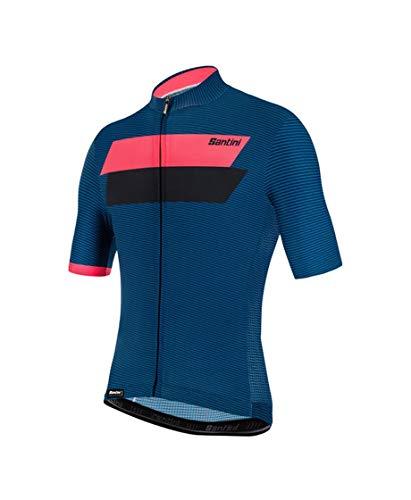 Santini Fahrradbekleidung für Herren, Sommertrikot Tono Studio, Herren, blau, S