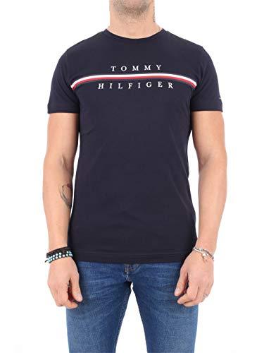 Tommy Hilfiger Corp Split tee Camiseta Deporte, Azul (Blue Dw5), X-Small para Hombre