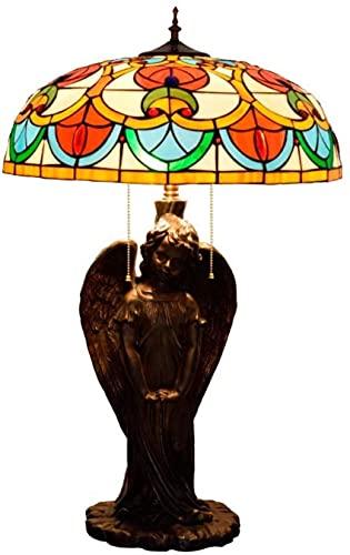 SpiceRack Lámparas para Dormitorio Lámparas de Mesa, Lámparas para Dormitorio Lámpara de Mesa Lámpara de Escritorio de Vidrio Rosa melocotón Portalámparas de ángel para hoteles Bares Restaur
