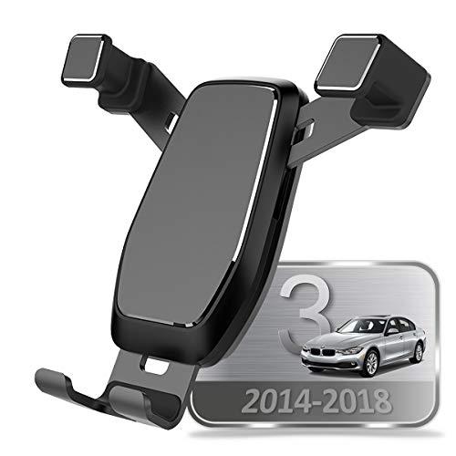 AYADA Soporte Móvil para BMW F30 F31 F34 Serie 3 F32 F33 F36 Serie 4, Soporte Telefono Nueva Versión Gravedad Auto Lock Estable Fácil de Instalar 2014 2015 2016 2017 2018 Accesorios