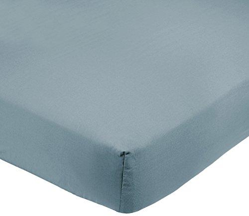 AmazonBasics Spannbetttuch, Mikrofaser, Graublau, 180x200x30cm