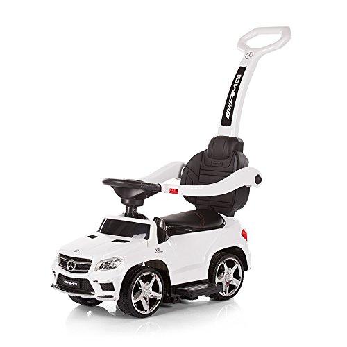 Chipolino GL63 AMG - Cochecito para niño, con mango, diseño de Mercedes Benz, color rojo blanco