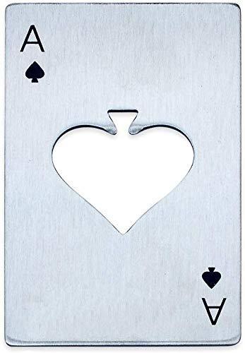 Edelstahl Spielkarte Ace Bier Opener Herren Geschenk Spaten Poker Bar Tool -1St