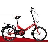 Bonheur, bicicletta pieghevole universale Wayfarer unisex, 6 velocità, telaio 330 mm e ruote da...