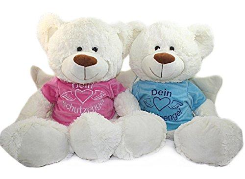 Paul exclusiv 1 x Bärchen mit ShirtDein Schutzengel, ca. 31 cm, Teddybär, Teddy, Plüsch (rosa)