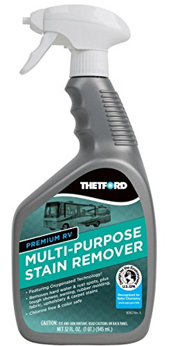 Premium RV Multi-Purpose Stain Remover - Cleaner for hard water / rust spots / rubber molding / vinyl /upholstery and carpet stains - Thetford 32838