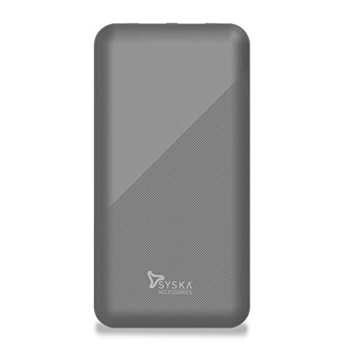 Syska Power Core 100 P1015B-GY 10000mAH Lithium Polymer Power Bank (Grey)