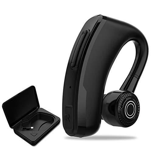 Wsaman Auriculares Bluetooth Intrauditivos,Deportivos Auriculares,con Estuche de Carga Inalámbricos Sonido Estéreo Cancelación de Ruido para Deportes, Oficina en Casa Trabajo,Black+chargingbox