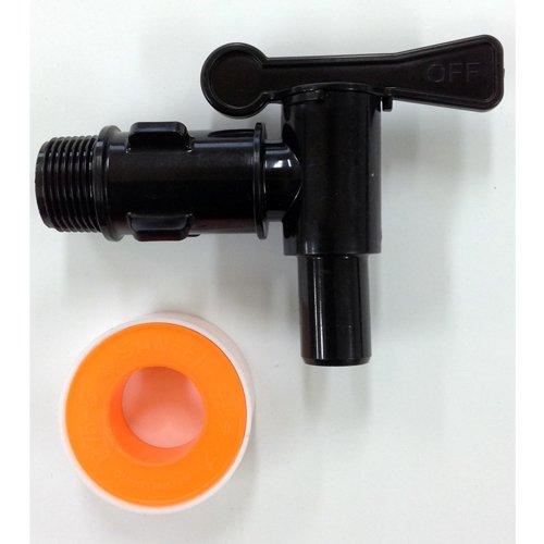 雨水貯留タンク部品 水栓プラスチック蛇口 黒 80〜150リットル対応