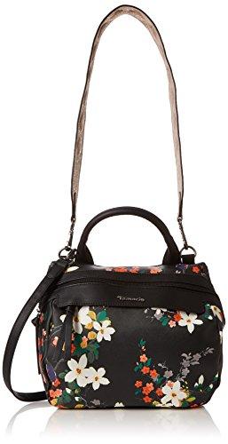 Tamaris Damen AVA Bowling Bag Tasche, (Black Comb.), 14x25x26 cm