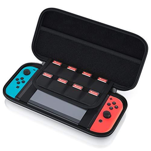 CSL - Tragetasche für Nintendo Switch - Transporttasche inkl. Netztasche und Reißverschluss - Tasche Schutzcase Schutztasche Hard Case - Schutz vor Kratzern Stößen und Schmutz
