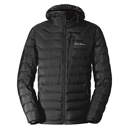 Eddie Bauer Men's Downlight Hooded Jacket, Black Regular M