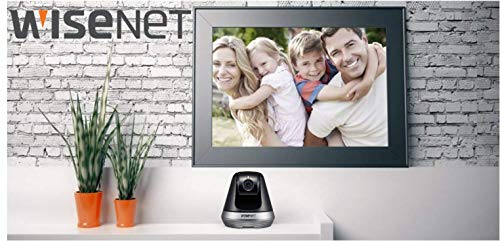 Smartcam Wisenet 6410 - Cámara giratoria, Color Negro