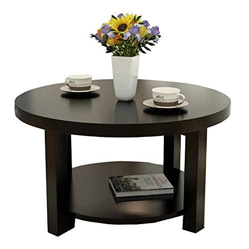 Zaixi Table Ronde en Bois Massif Table Basse Moderne et Simple Table Basse Salon Petite Table de négociation d'appartement Forte capacité portante (Couleur : A, Taille : 50CM)