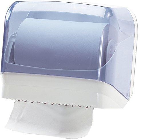 MAR PLAST Portarotolo carta asciugamani n. 602 | Trasparente | Dispenser per rotolo o fogli intercalati | Diametro max rotolo 165 mm
