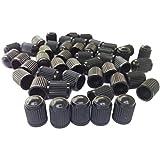 Hengzi 100PC schwarz Kunststoff Reifen Ventilkappen