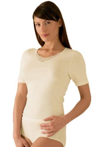 Susa Damen Angora Spenzer s8010820 Thermounterwäsche - Oberteil, Weiß (wollweiß 122), 48 (Herstellergröße: XL)