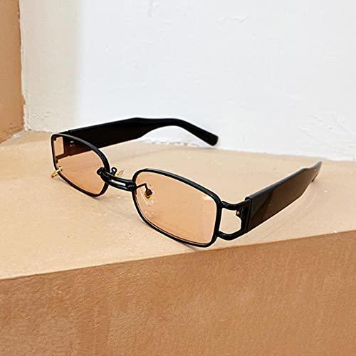 UKKO Gafas de Sol Hombre Small Rectangle Women Gafas De Sol Vintage Hombres Gafas De Sol Trasas Uv400