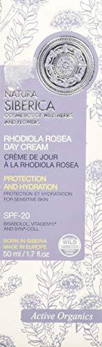 Natura Siberica Crema Giorno Viso Rodiola Rosea, Protezione e Idratazione, Pelli Sensibili - 150 ml