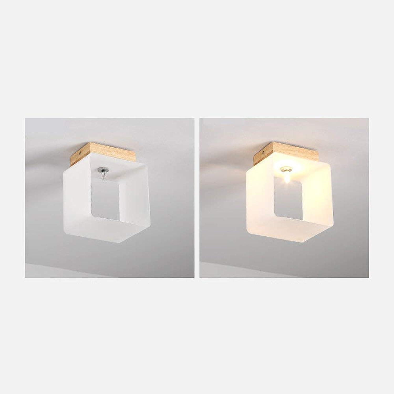 GWFVA Led Massivholz Einfache Deckenleuchten Nordic Lampen und Laternen Platz Warmes Licht Weies Licht G4 Lampenfassung Max 600  600  230mm Gute Deckenleuchte (Farbe  Warmes Licht-360  360  2