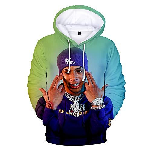 WAWNI Hip hop NLE Choppa 3D Hoodie Sweatshirts Men Women Pullover (Medium,3D 1)