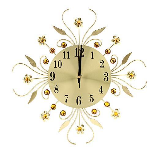 HelloCreate, orologio da parete a forma di fiore, in ferro creativo, stile europeo, orologio da parete a forma di fiore