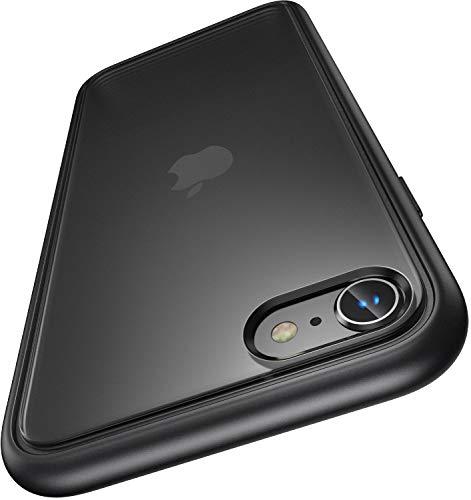Humixx iPhone SE ケース [第2世代] iPhone8 ケース iPhone7 ケース [2020年新型] 真実耐衝撃 SGS認証 米軍MIL規格 指紋防止 滑り止め付き 黄ばみなし レンズ保護 マット感 半透明(ブラック) [iPhone 7/8/SE 4.7インチ] [Shockproof Series]